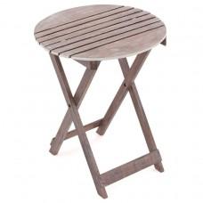 DIVERO záhradný sklopný stolík okrúhly, 60 cm