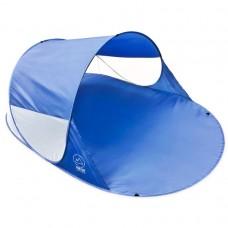 Pop-up stan, prístrešok na pláž, 200 x 120 x 85 cm, modrý