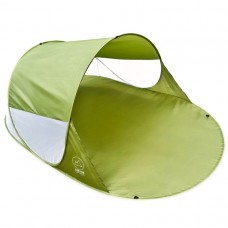 Pop-up stan, prístrešok na pláž, 200 x 120 x 85 cm, zelený
