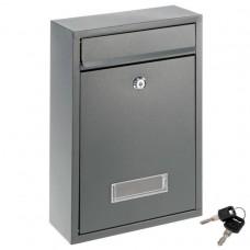Poštová nástenná schránka ELI, oceľová, antracit, 2 kľúče