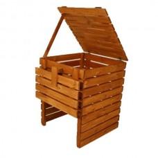 Záhradný drevený kompostér - 600 l