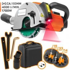 TIMBERTECH drážkovacia fréza s laserom, 1700 W