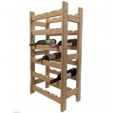 Drevený stojan na víno pre 24 fliaš