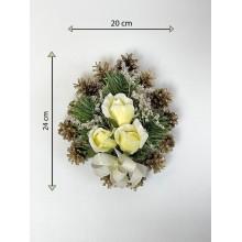 Smútočná kvetina v tvare srdca, malá, krémová